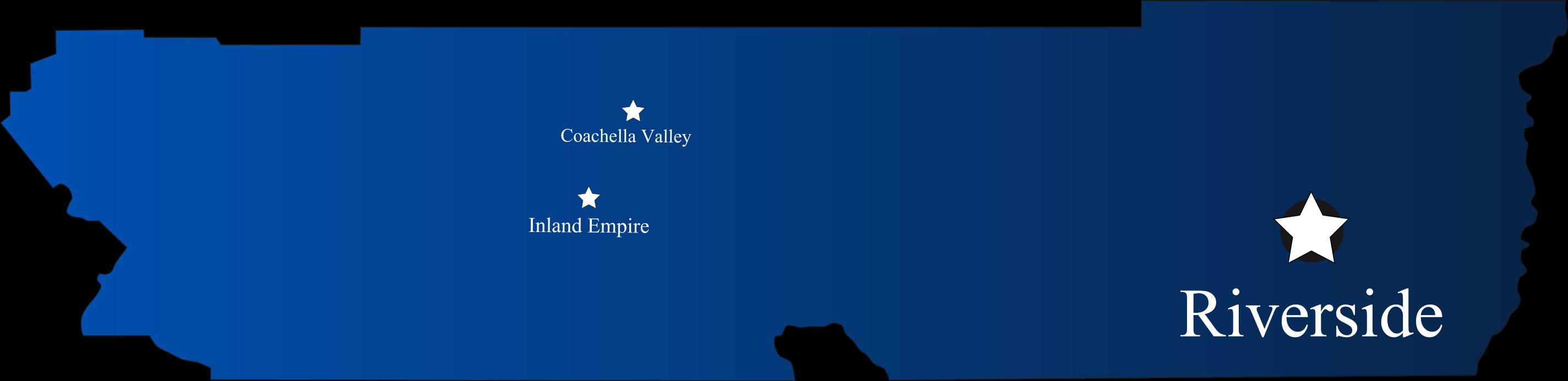 Coachella Valley and Inland Empire map